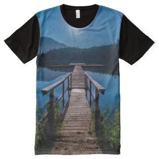 Camiseta Com Impressão Frontal Completa Lago - caminho