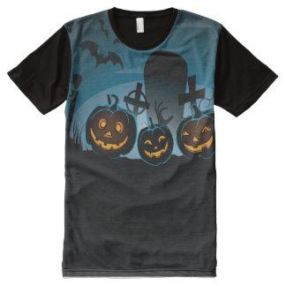 Camiseta Com Impressão Frontal Completa Lanternas do Dia das Bruxas Jack O