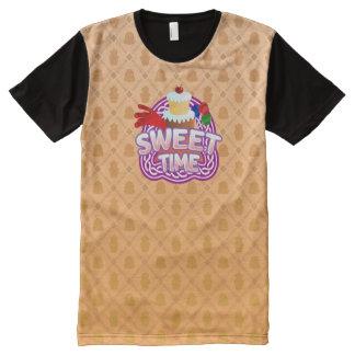 Camiseta Com Impressão Frontal Completa Laranja doce do tempo todo o t-shirt impresso