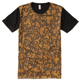 Camiseta Com Impressão Frontal Completa Leopardo