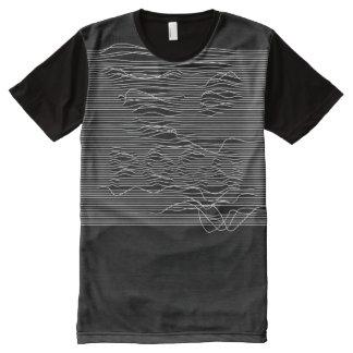 Camiseta Com Impressão Frontal Completa Linha na moda t-shirt de PAGA™ KTM da arte