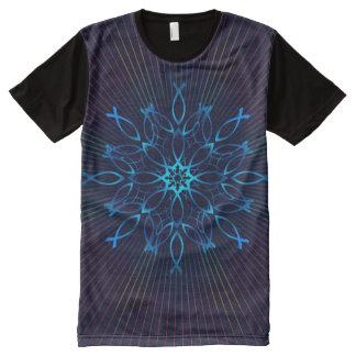Camiseta Com Impressão Frontal Completa Mandala de Ichthus