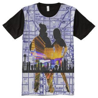 Camiseta Com Impressão Frontal Completa Mapa da cidade da lealdade de Las Vegas