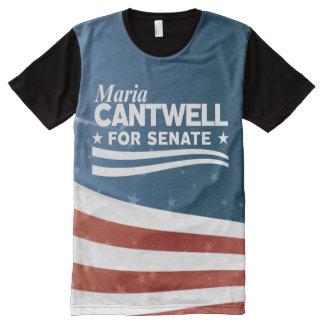 Camiseta Com Impressão Frontal Completa Maria Cantwell