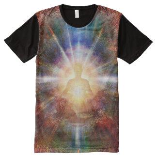 Camiseta Com Impressão Frontal Completa Meditator 9 de H047 Batleth