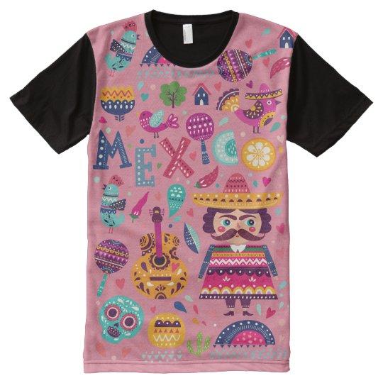 Camiseta Com Impressão Frontal Completa Mexico