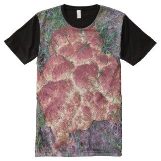 Camiseta Com Impressão Frontal Completa Molde de limo do vómito do cão