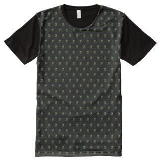 Camiseta Com Impressão Frontal Completa Motivo floral de XXL no preto
