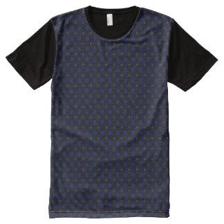 Camiseta Com Impressão Frontal Completa Motivo redondo preto de XXL no azul