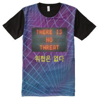 Camiseta Com Impressão Frontal Completa Não há nenhuma dimensão da foto da ameaça