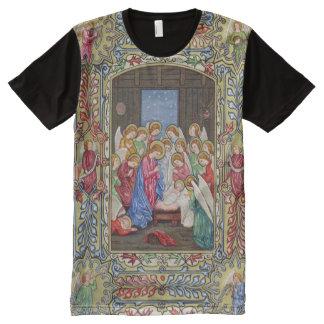 Camiseta Com Impressão Frontal Completa Natividade de nosso senhor