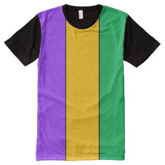 Camiseta Com Impressão Frontal Completa O carnaval colore teste padrão listrado