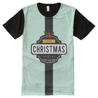 Camiseta Com Impressão Frontal Completa O Natal deseja o t-shirt