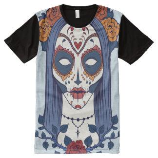 Camiseta Com Impressão Frontal Completa O t-shirt impresso dos homens de San Antonio