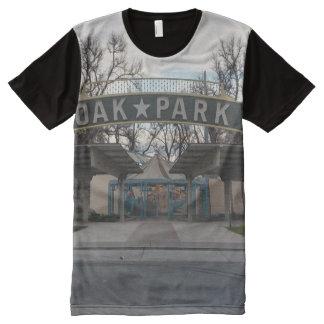 Camiseta Com Impressão Frontal Completa Oak Park (Sacramento, Califórnia)