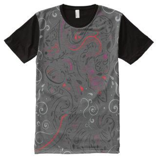 Camiseta Com Impressão Frontal Completa ornamentado do elefante