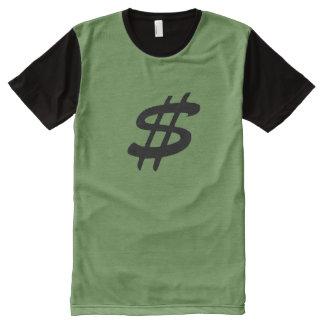 Camiseta Com Impressão Frontal Completa Os homens almofadam T-Curto com logotipo do sinal