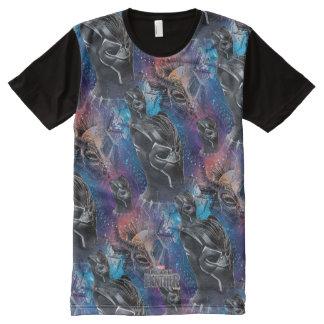 Camiseta Com Impressão Frontal Completa Pantera preta preta de pantera | & teste padrão de