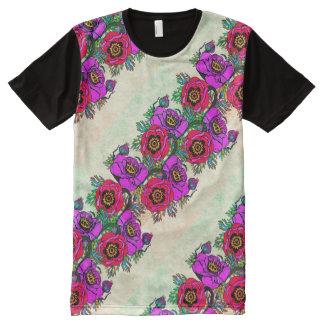Camiseta Com Impressão Frontal Completa Papoila-ish legal & brilhante