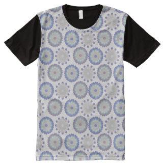Camiseta Com Impressão Frontal Completa Pastel floral