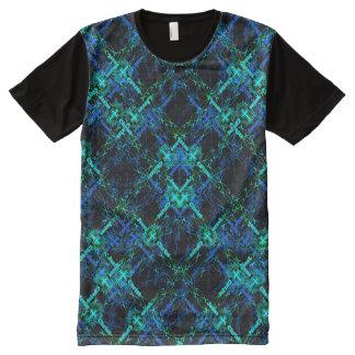 Camiseta Com Impressão Frontal Completa Peixes de entrecruzamento de Jesus
