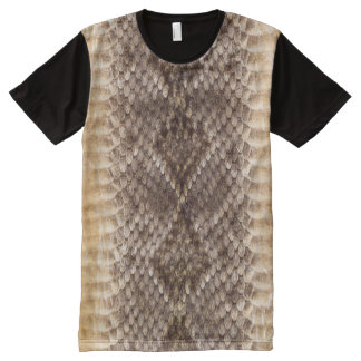 Camiseta Com Impressão Frontal Completa Pele de cobra do cascavel