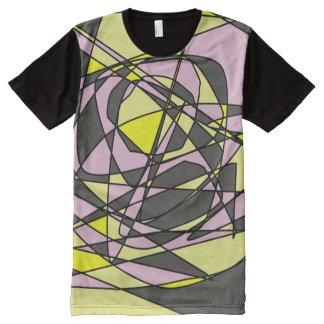 Camiseta Com Impressão Frontal Completa Planos da existência -- T-shirt mágicos