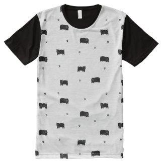 Camiseta Com Impressão Frontal Completa Porcos e teste padrão das maçãs