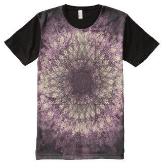 Camiseta Com Impressão Frontal Completa Purple Mandala