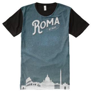 Camiseta Com Impressão Frontal Completa Roma - por todo o lado no t-shirt do impressão
