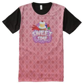 Camiseta Com Impressão Frontal Completa Rosa doce do tempo todo o t-shirt impresso