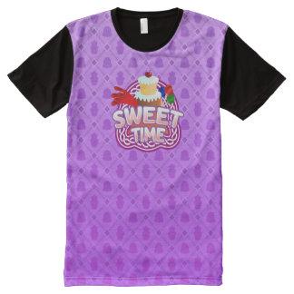 Camiseta Com Impressão Frontal Completa Roxo doce do tempo todo o t-shirt impresso