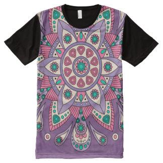 Camiseta Com Impressão Frontal Completa Roxo original de Tiga da mandala