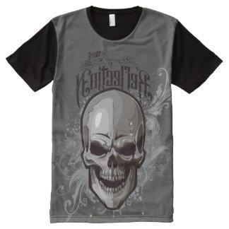 Camiseta Com Impressão Frontal Completa Scroll Skull