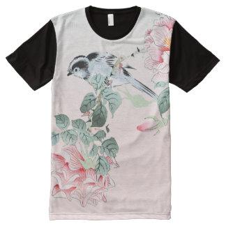 Camiseta Com Impressão Frontal Completa Série asiática da arte: T-shirt do painel dos