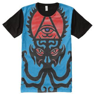 Camiseta Com Impressão Frontal Completa Símbolo oculto do trunfo de Hephzibah