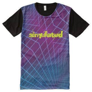 Camiseta Com Impressão Frontal Completa Simulado - t-shirt de Hypermatrix