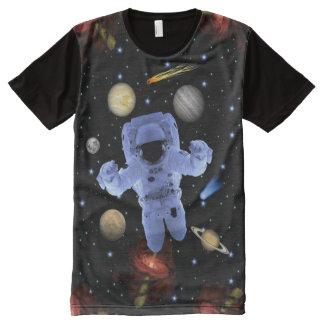 Camiseta Com Impressão Frontal Completa Sistema solar de Astro-Chillin