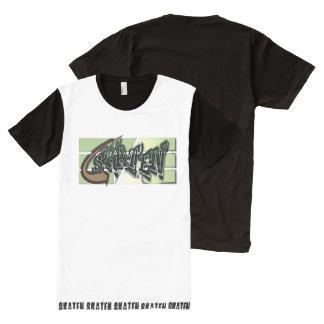 Camiseta Com Impressão Frontal Completa -Skaten, genial Shirt para Skater,