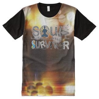 Camiseta Com Impressão Frontal Completa Sobrevivente da alma III