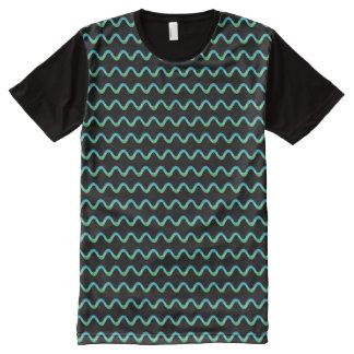 Camiseta Com Impressão Frontal Completa Squiggle verde