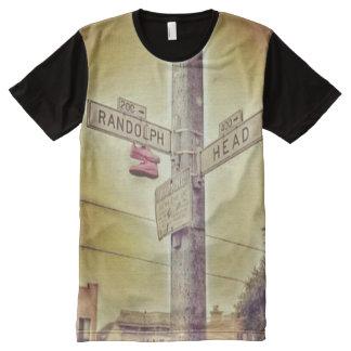 Camiseta Com Impressão Frontal Completa St. San Francisco de Randolph & de cabeça