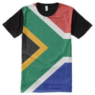 Camiseta Com Impressão Frontal Completa Sul - cheio africano da bandeira