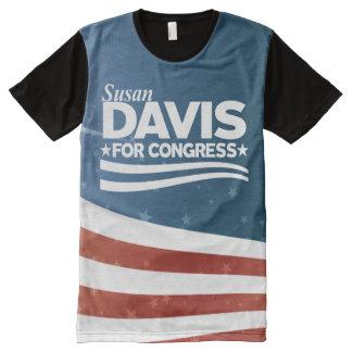 Camiseta Com Impressão Frontal Completa Susan Davis