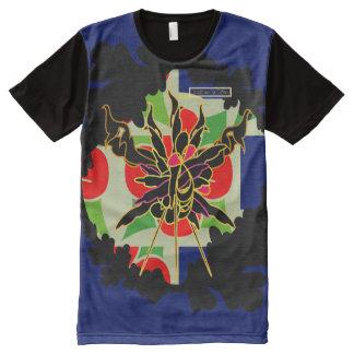 Camiseta Com Impressão Frontal Completa T do costume da tentação