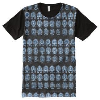 Camiseta Com Impressão Frontal Completa T-shirt da varredura de cérebro MRI