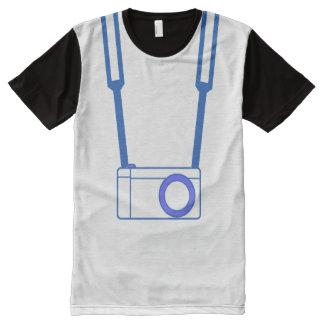 Camiseta Com Impressão Frontal Completa T-shirt do azul da câmera de MC