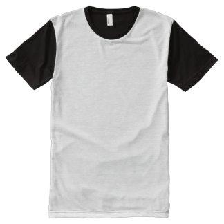 Camiseta Com Impressão Frontal Completa T-shirt do painel dos homens