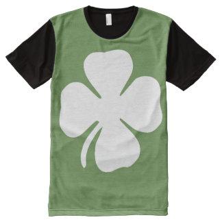 Camiseta Com Impressão Frontal Completa T-shirt do trevo da licença do dia quatro de St