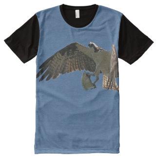 Camiseta Com Impressão Frontal Completa T-shirt do vôo dos animais selvagens dos animais